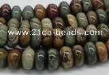 CPJ17 15.5 inches 3*6mm rondelle picasso jasper beads wholesale