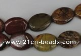 CPJ356 15.5 inches 12*16mm oval picasso jasper gemstone beads