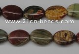 CPJ402 15 inches 12*16mm oval picasso jasper gemstone beads