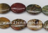 CPJ403 15 inches 13*18mm oval picasso jasper gemstone beads