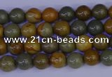 CPJ450 15.5 inches 4mm round wildhorse picture jasper beads