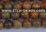CPJ462 15.5 inches 8mm round African picture jasper beads