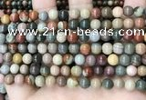 CPJ481 15.5 inches 6mm round polychrome jasper beads wholesale