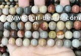 CPJ483 15.5 inches 10mm round polychrome jasper beads wholesale