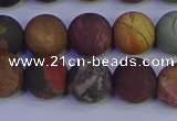 CPJ504 15.5 inches 12mm round matte picasso jasper beads wholesale