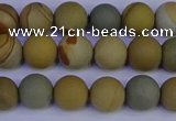 CPJ522 15.5 inches 8mm round matte wildhorse picture jasper beads