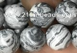 CPJ583 15.5 inches 10mm round grey picture jasper beads wholesale