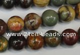 CPJ63 15.5 inches 12mm round picasso jasper gemstone beads