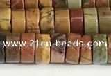 CPJ681 15.5 inches 3*6mm heishi picasso jasper beads wholesale