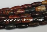 CPJ70 15.5 inches 6*12mm rice picasso jasper gemstone beads