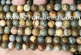 CPJ709 15.5 inches 10mm round rocky butte picture jasper beads