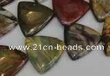 CPJ92 15.5 inches 20*20mm triangle picasso jasper gemstone beads