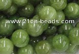 CPO05 15.5 inches 14mm round olivine gemstone beads wholesale