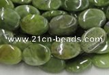 CPO12 15.5 inches 10*14mm oval olivine gemstone beads wholesale