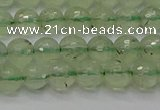 CPR333 15.5 inches 6mm faceted round natural prehnite beads