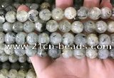 CPR353 15.5 inches 11mm faceted round prehnite beads wholesale