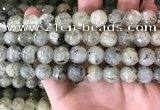 CPR354 15.5 inches 13mm faceted round prehnite beads wholesale