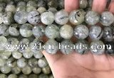 CPR356 15.5 inches 16mm faceted round prehnite beads wholesale