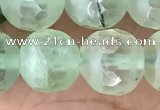 CPR367 15.5 inches 10mm faceted round prehnite gemstone beads