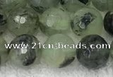 CPR406 15.5 inches 8mm faceted round prehnite beads wholesale