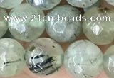CPR421 15.5 inches 8mm faceted round prehnite beads wholesale