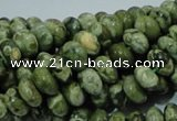 CPS01 15.5 inches 5*8mm rondelle green peacock stone beads wholesale