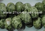 CPS03 15.5 inches 13*18mm rondelle green peacock stone beads wholesale