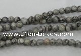 CPT101 15.5 inches 4mm round grey picture jasper beads