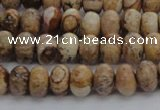 CPT270 15.5 inches 5*8mm rondelle picture jasper beads wholesale