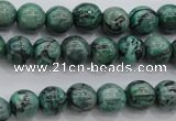 CPT301 15.5 inches 6mm round green picture jasper beads wholesale