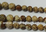 CPT510 15.5 inches 6mm – 14mm faceted round picture jasper beads