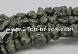 CPY02 16 inches 10mm nugget pyrite gemstone chip beads wholesale