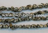 CPY168 15.5 inches 4*5mm nuggets pyrite gemstone beads wholesale