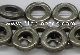 CPY19 16 inches 20mm donut pyrite gemstone beads wholesale