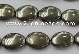 CPY233 15.5 inches 12*16mm oval pyrite gemstone beads wholesale