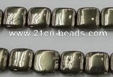 CPY251 15.5 inches 12*12mm square pyrite gemstone beads wholesale