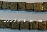 CPY353 15.5 inches 10*10mm cube pyrite gemstone beads wholesale