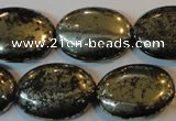 CPY42 16 inches 18*25mm oval pyrite gemstone beads wholesale