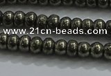 CPY421 15.5 inches 2.5*4mm rondelle pyrite gemstone beads