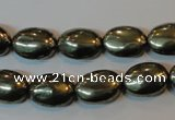 CPY44 16 inches 10*14mm oval pyrite gemstone beads wholesale