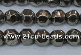 CPY617 15.5 inches 10mm nuggets pyrite gemstone beads