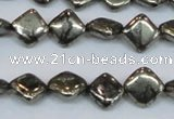 CPY647 15.5 inches 8*8mm diamond pyrite gemstone beads wholesale