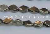 CPY651 15.5 inches 6*8mm pyrite gemstone beads wholesale