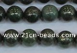 CPY764 15.5 inches 12mm round pyrite gemstone beads wholesale