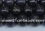CPY775 15.5 inches 14mm round pyrite gemstone beads wholesale