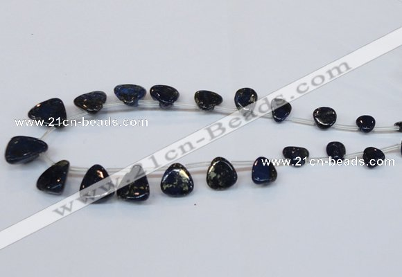 CPY799 Top drilled 6*8mm - 16*18mm freeform pyrite gemstone beads