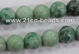 CQJ05 15.5 inches 12mm round Qinghai jade beads wholesale