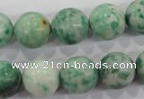 CQJ06 15.5 inches 14mm round Qinghai jade beads wholesale