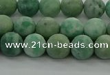 CQJ232 15.5 inches 8mm round matte Qinghai jade beads