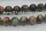 CRA01 15.5 inches 8mm round natural rainforest agate gemstone beads